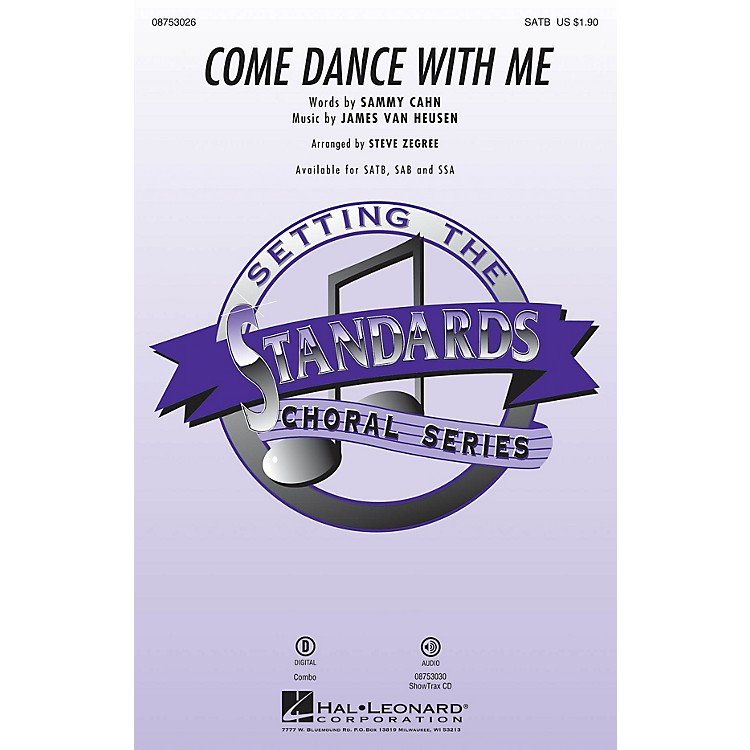 Hal LeonardCome Dance with Me ShowTrax CD by Frank Sinatra Arranged by Steve Zegree