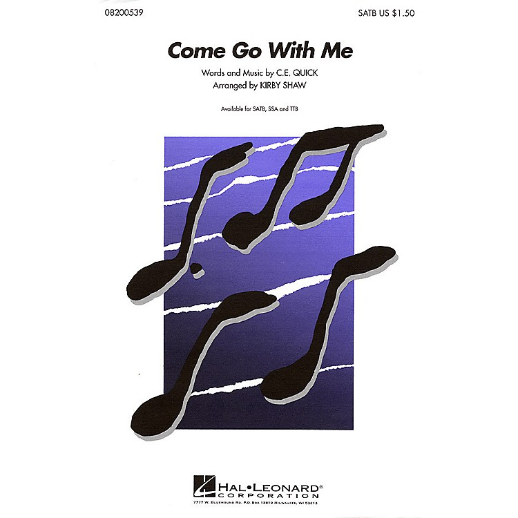 Hal LeonardCome Go with Me TTB A Cappella Arranged by Kirby Shaw