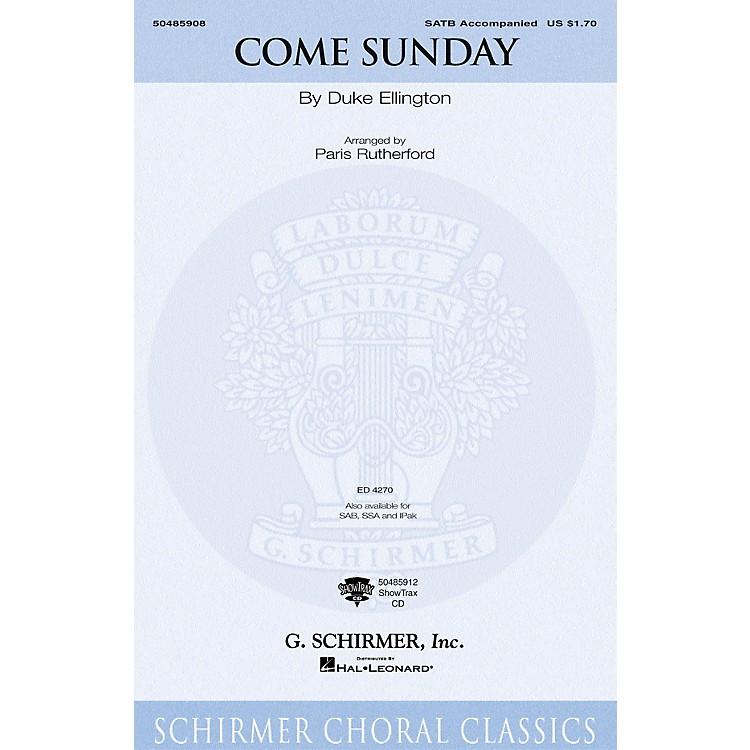 G. SchirmerCome Sunday (Instrumental Pak) IPAKO Arranged by Paris Rutherford