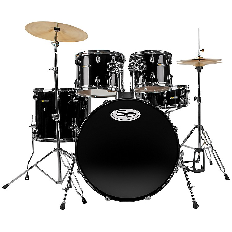 Sound Percussion LabsComplete 5-Piece Drum Set with Cymbals & HardwareBlack