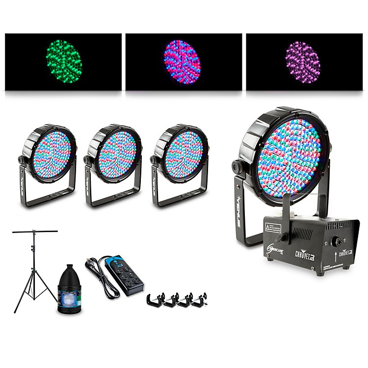 ProlineComplete Lighting Package with Four Thinpar64 and Huricane 700 Fog Machine