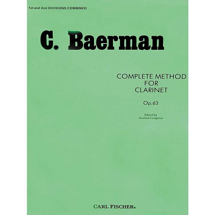 Carl FischerComplete Method For Clarinet Op.63 - Parts 1 & 2