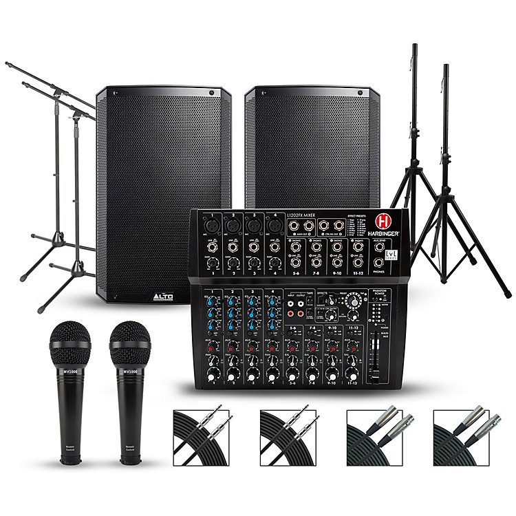 HarbingerComplete PA Package with Harbinger L1202FX 12-channel Mixer and Alto Truesonic 2 Series Active Speakers15