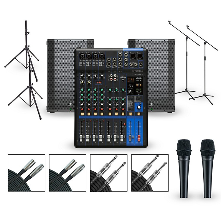 Yamaha Complete PA Package with MG10XUK Mixer and Mackie Thump BST Boosted Speakers 15