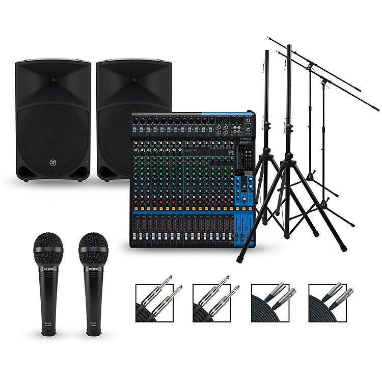 Yamaha Complete PA Package with MG20XU Mixer and Mackie Thump Speakers 15