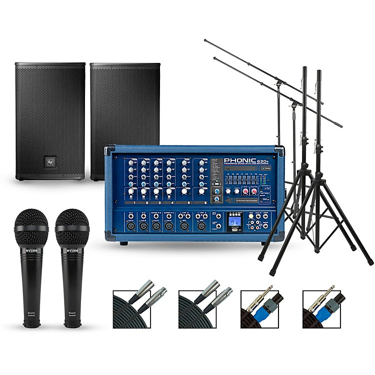 PhonicComplete PA Package with Powerpod 630R Mixer and Electro-Voice ELX Speakers12