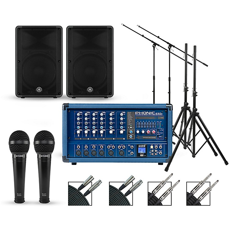 PhonicComplete PA Package with Powerpod 630R Plus Mixer and Yamaha CBR Series Speakers10