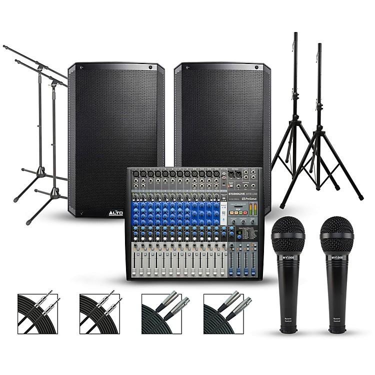 PreSonusComplete PA Package with PreSonus StudioLive AR16 USB Mixer and Alto Truesonic 2 Series Powered Speakers15