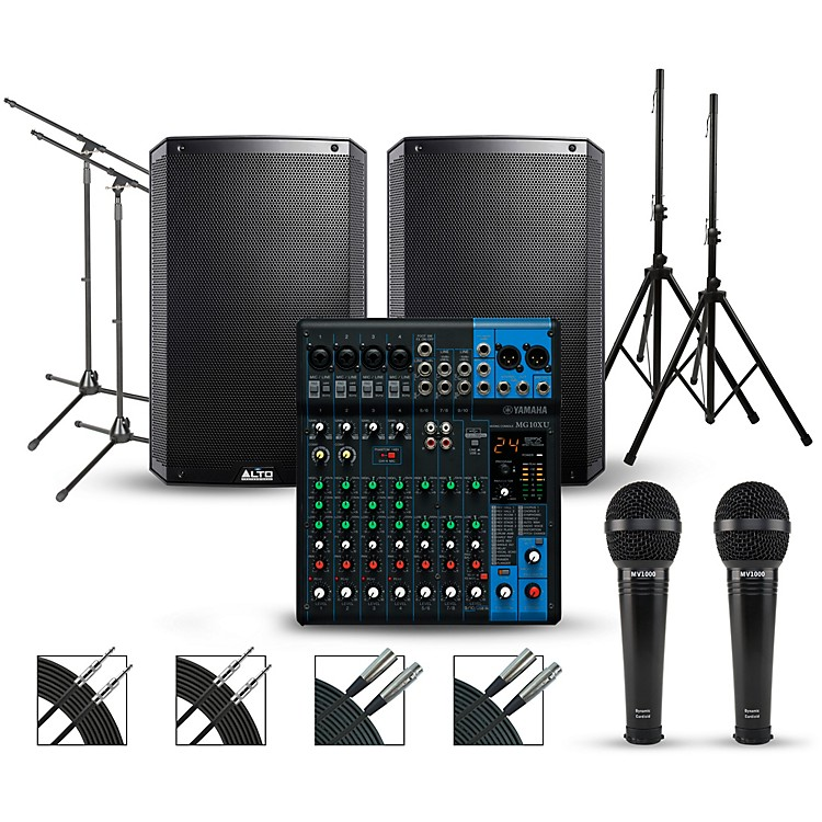 YamahaComplete PA Package with Yamaha MG10XU Mixer and Alto Truesonic 2 Series Speakers15