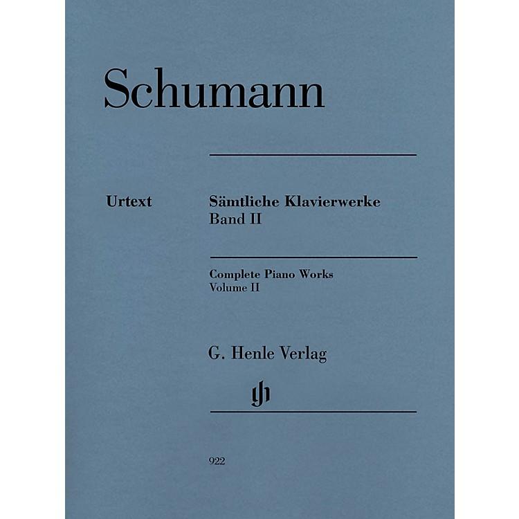 G. Henle VerlagComplete Piano Works - Volume 2 Henle Music Softcover by Robert Schumann Edited by Ernst Herttrich