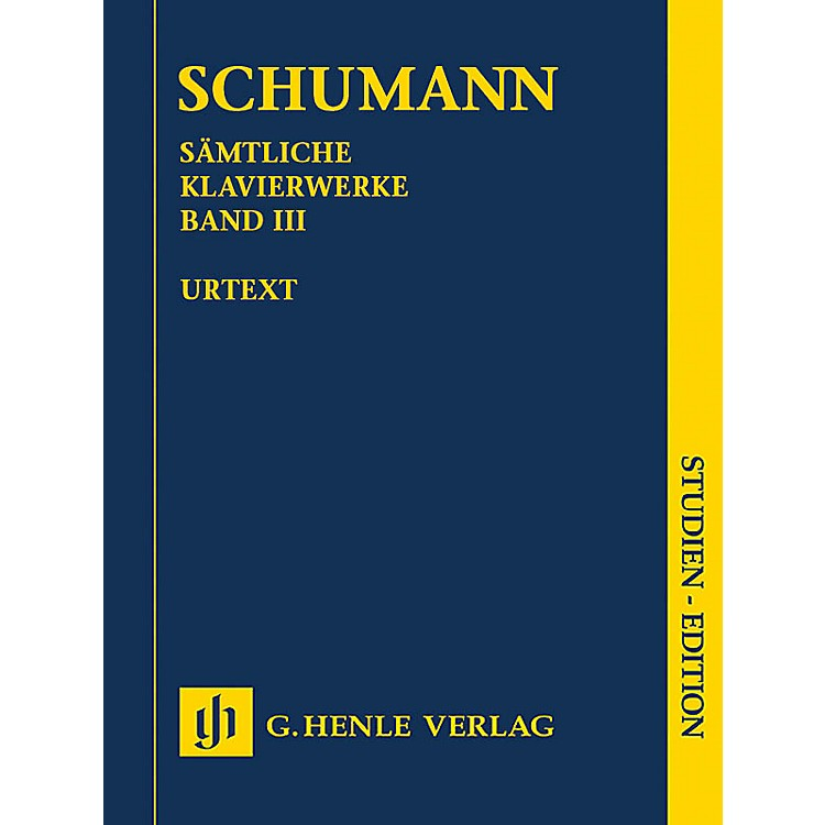 G. Henle VerlagComplete Piano Works - Volume 3 (Study Score) Henle Study Scores Series Softcover by Robert Schumann