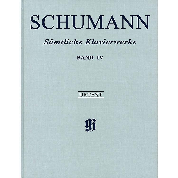 G. Henle VerlagComplete Piano Works - Volume 4 Henle Music Hardcover Composed by Schumann Edited by Ernst Herttrich