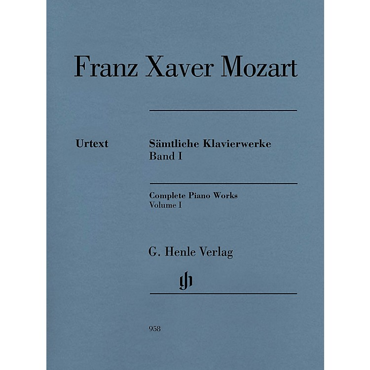 G. Henle VerlagComplete Piano Works, Vol. I Henle Music Folios Softcover by Franz Xaver Mozart Edited by Nottelmann
