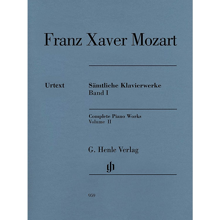 G. Henle VerlagComplete Piano Works, Vol. II Henle Music Folios Softcover by Franz Xaver Mozart Edited by Nottelmann