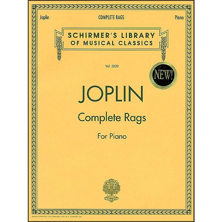G. SchirmerComplete Rags Piano By Joplin Scott