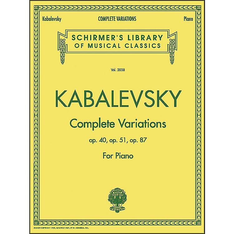 G. SchirmerComplete Variations Op 40 Op 51 Op 87 By Kabalevsky