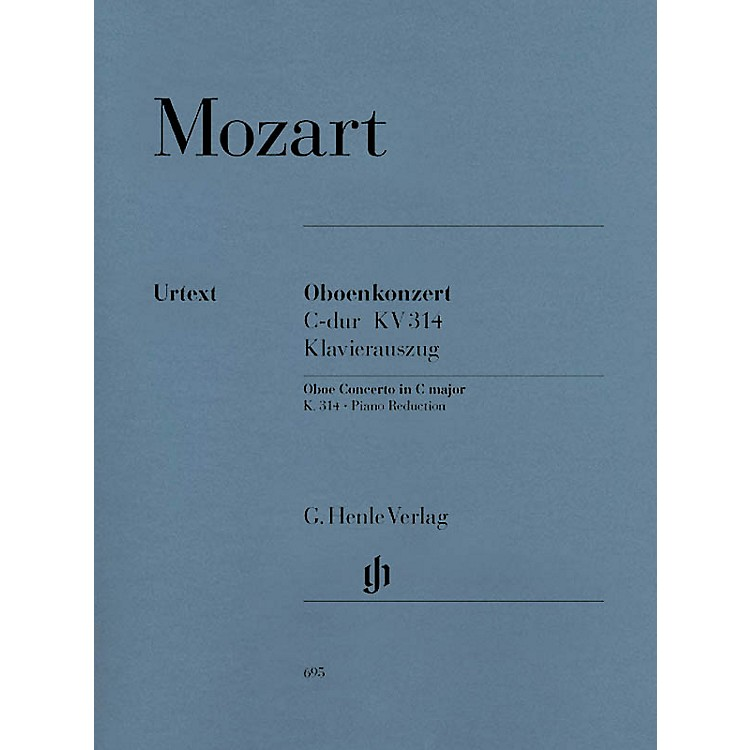 G. Henle VerlagConc for Oboe and Orchestra C Maj, K. 314 Henle Music Folios Series Book