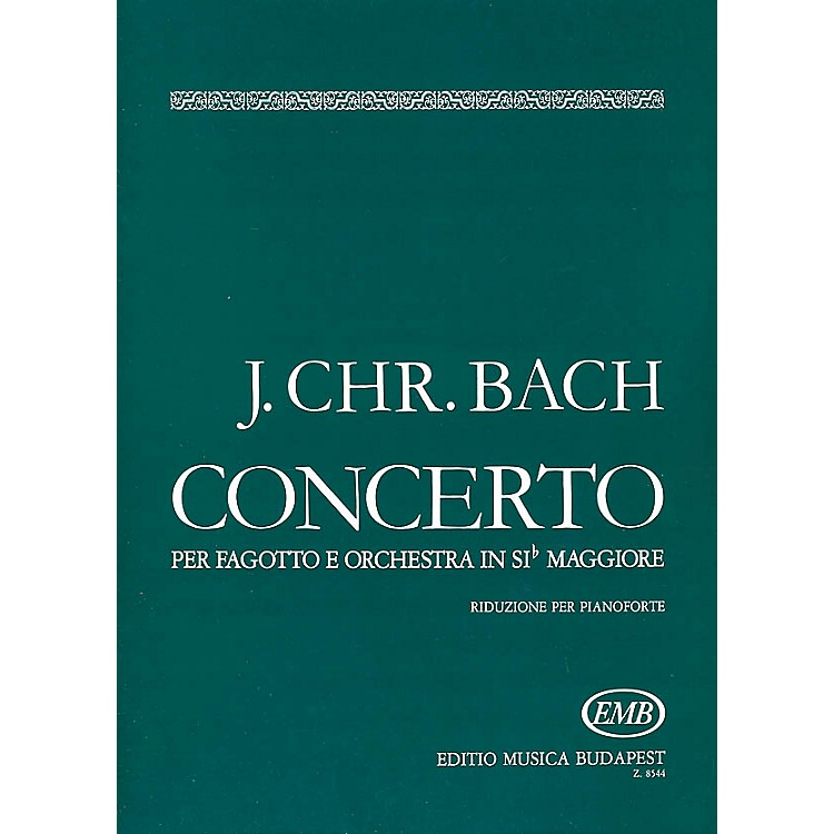 Editio Musica Budapest Conc in B Flat (Bassoon with Piano Accompaniment) EMB Series by Johan Sebastian Bach