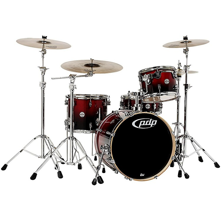 PDP by DWConcept Birch 4-Piece Shell PackCherry to Black Fade