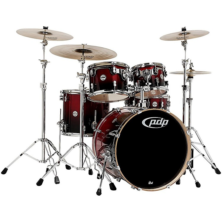 PDP Concept Birch 5-Piece Shell Pack Cherry to Black Fade