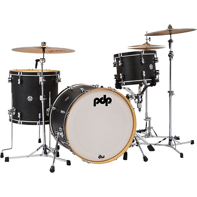 PDP by DW Concept Classic 3-Piece Shell Pack with 22 in. Kick Ebony Stain