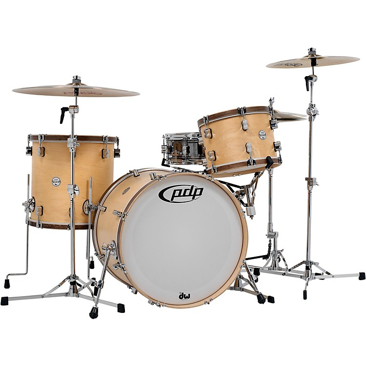 PDP by DW Concept Classic 3-Piece Shell Pack with 22 in. Kick Natural/Walnut