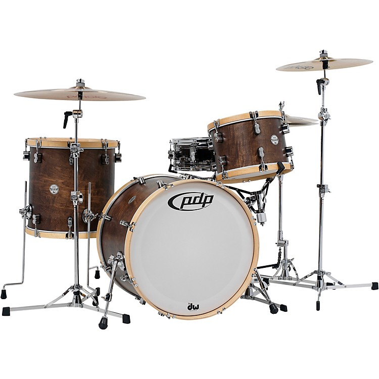 PDP by DWConcept Classic 3-Piece Shell Pack with 22 in. KickEbony Stain