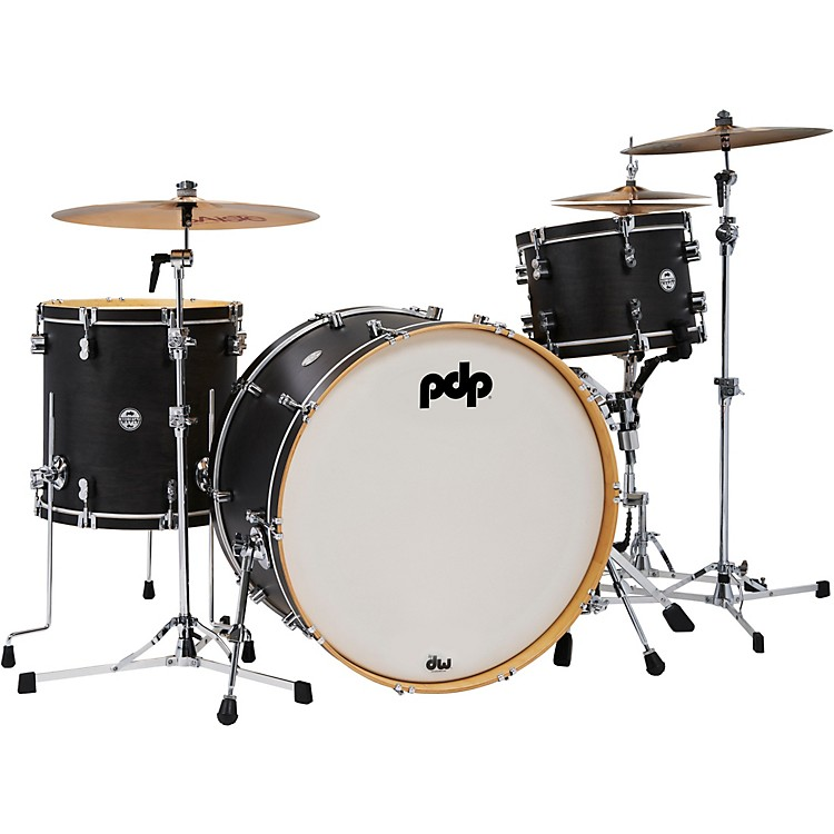 PDP by DWConcept Classic 3-Piece Shell Pack with 26 in. Bass DrumEbony Stain