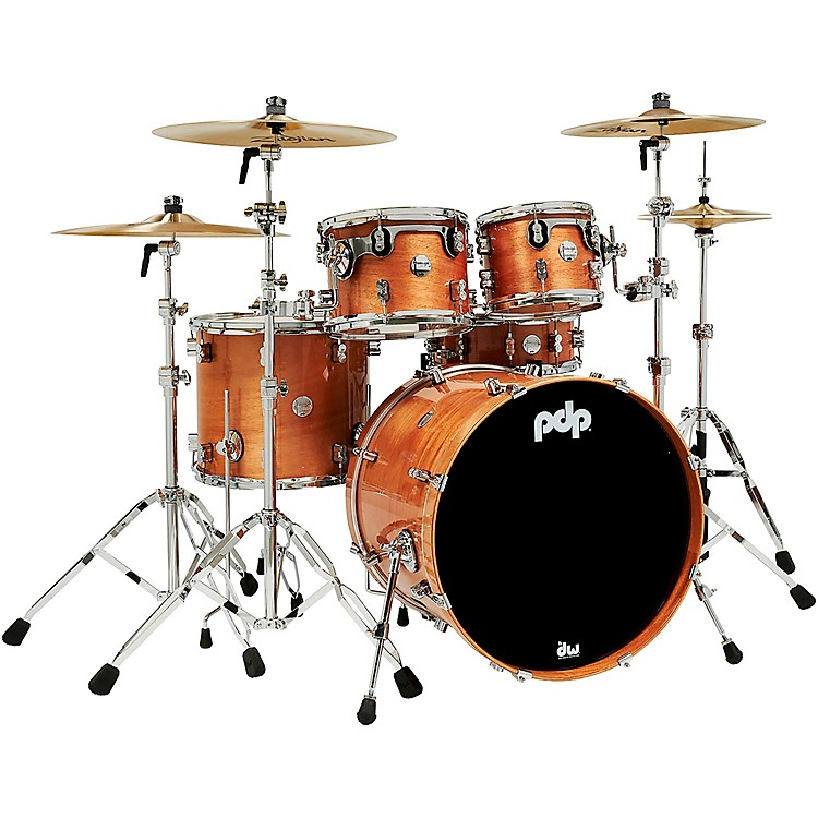 PDP by DWConcept Exotic 5-Piece Maple Shell Pack with Chrome HardwareHoney Mahogany