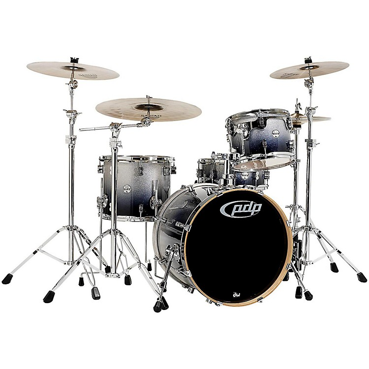PDP by DW Concept Maple 4-Piece Shell Pack Silver to Black Fade
