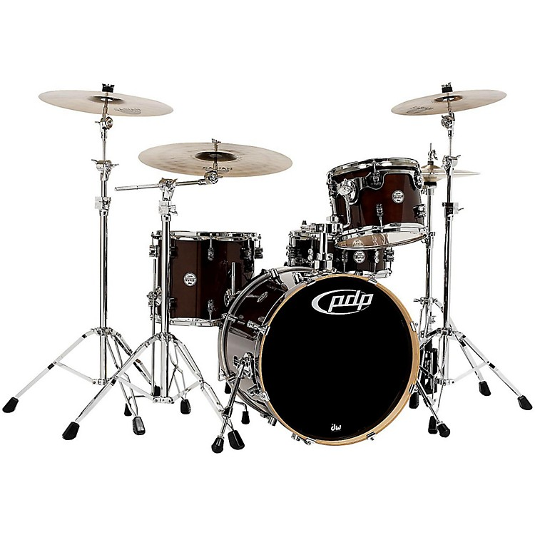 PDP by DW Concept Maple 4-Piece Shell Pack Transparent Walnut