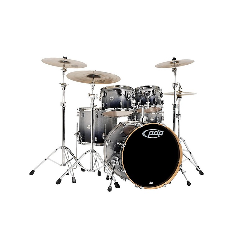 PDP by DWConcept Maple 5-Piece Shell PackSilver to Black Fade