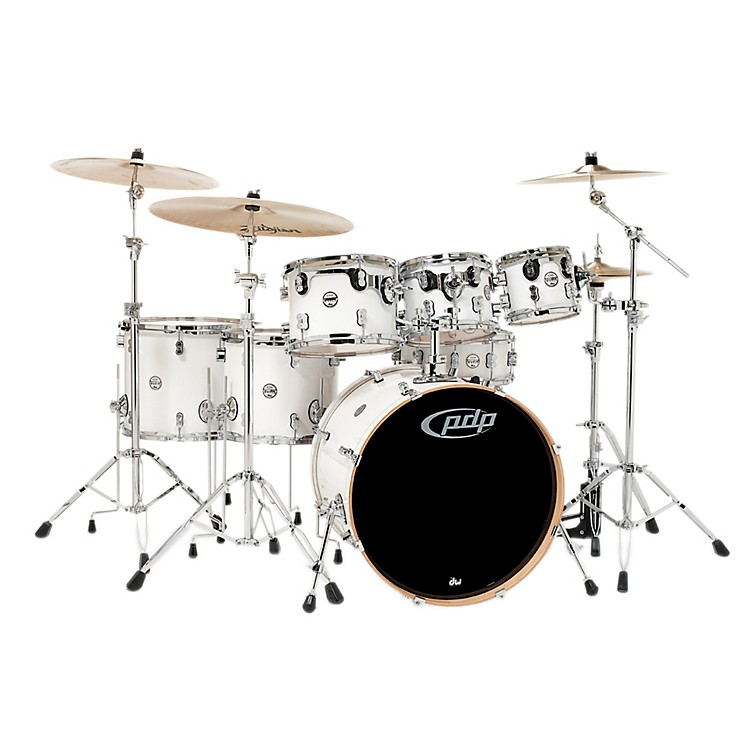 PDP by DW Concept Maple 7-Piece Shell Pack Pearlescent White