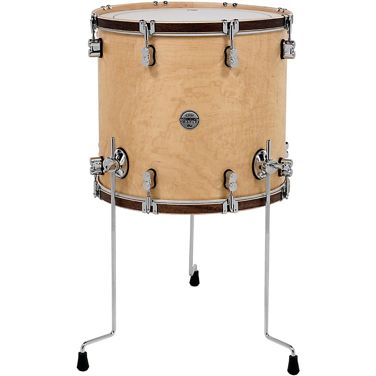 PDP by DWConcept Maple Classic Floor Tom with Tobacco Hoops18 x 16 in.Natural