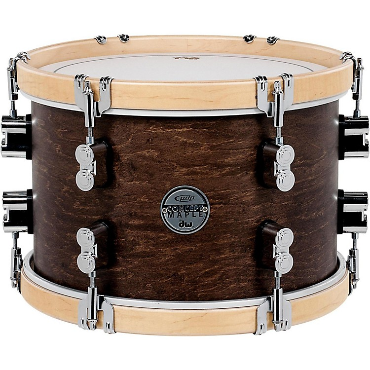 PDP by DW Concept Maple Classic Tom with Natural Hoops 12 x 8 in. Tobacco
