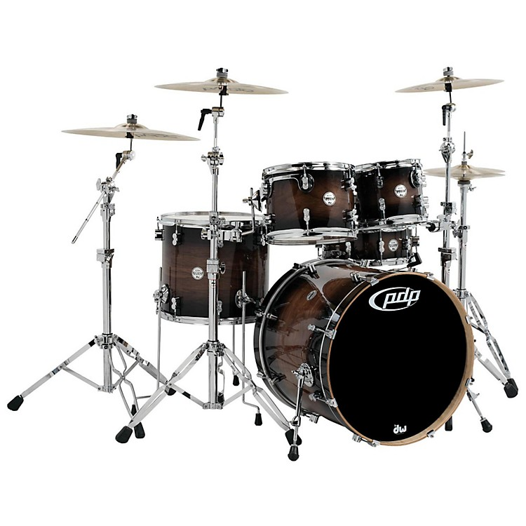 PDP by DWConcept Maple Exotic Series 5-Piece Shell PackWalnut to Charcoal Burst