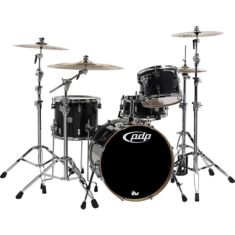 PDP by DW Concept Maple by DW 4-Piece Shell Pack Ebony Stain Lacquer