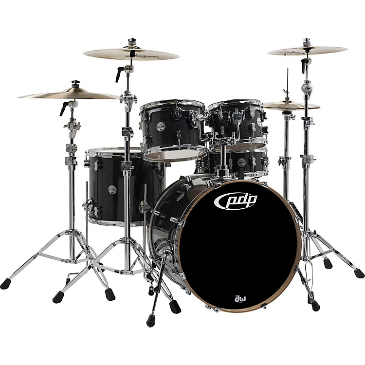 PDP by DW Concept Maple by DW 5-Piece Shell Pack Ebony Stain Lacquer