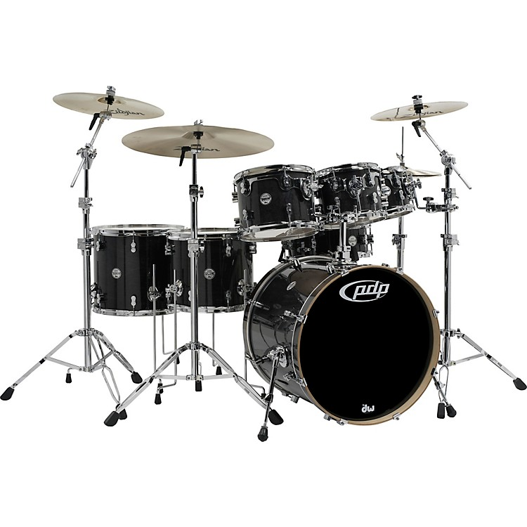 PDP by DW Concept Maple by DW 7-Piece Shell Pack Ebony Stain Lacquer