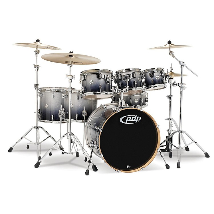 PDP by DWConcept Maple by DW 7-Piece Shell PackSilver to Black Fade