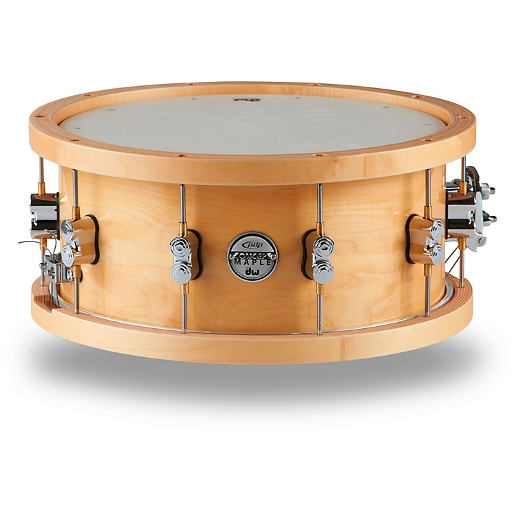pdp by dw concept series 20 ply snare drum with wood hoops 14 x 6 5 in natural lacquer music123. Black Bedroom Furniture Sets. Home Design Ideas