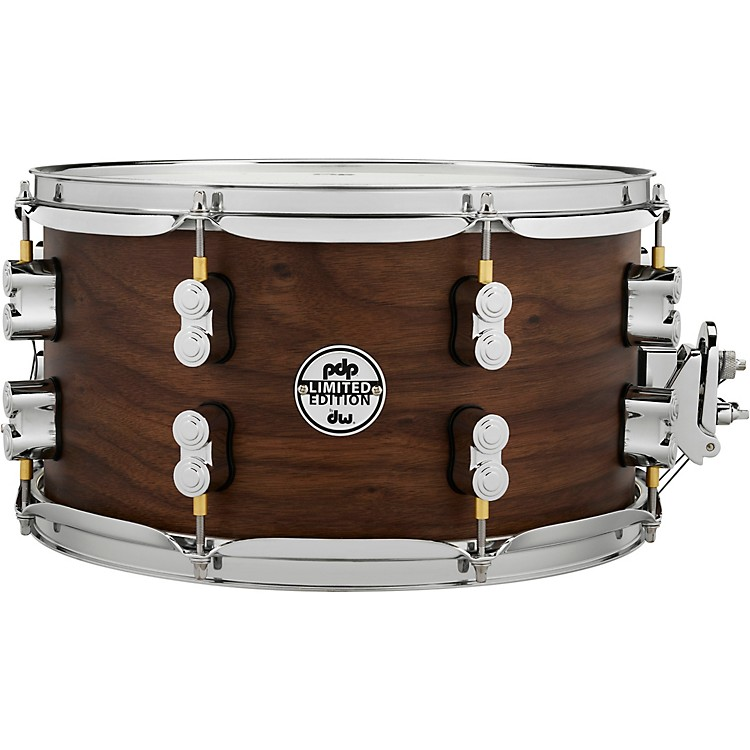 PDP by DWConcept Series Limited Edition 20-Ply Hybrid Walnut Maple Snare Drum14 x 6.5 in.Satin Walnut