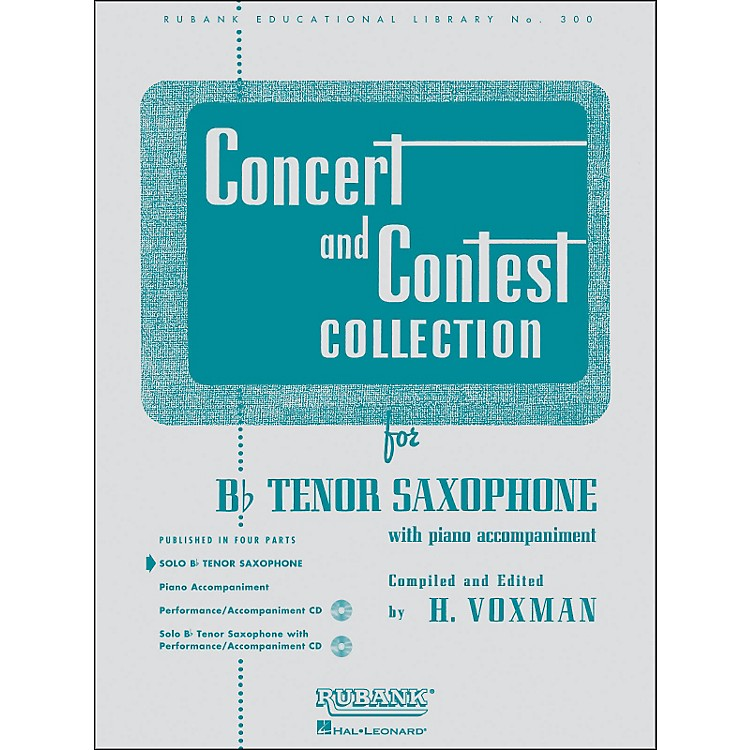 Hal Leonard Concert And Contest Collection B Flat Tenor Saxophone Solo Part Only
