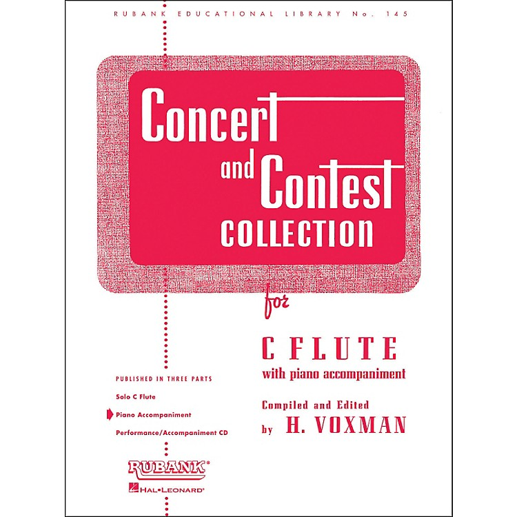 Hal LeonardConcert And Contest Collection C Flute Piano Accompaniment Only