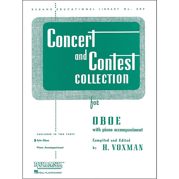 Hal LeonardConcert And Contest Collection Oboe Solo Part Only