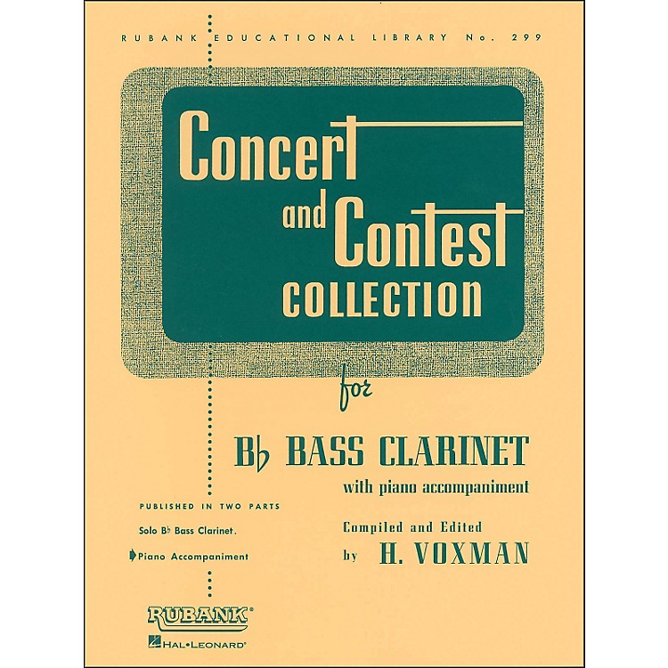 Hal Leonard Concert And Contest Collection for B Flat Bass Clarinet for Piano Accompaniment Only