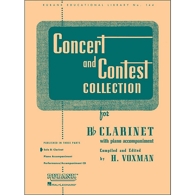 Hal Leonard Concert And Contest Collection for B Flat Clarinet Solo Part Only