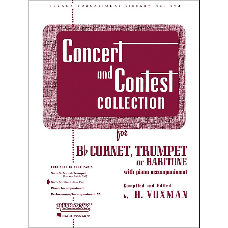Hal LeonardConcert And Contest Collection for Baritone B.C. Solo Part Only