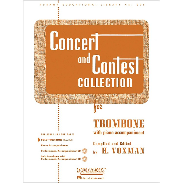 Hal Leonard Concert And Contest Collection for Solo Trombone Solo Part Only