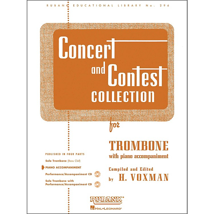 Hal LeonardConcert And Contest Collection for Trombone - Piano Accompaniment Only